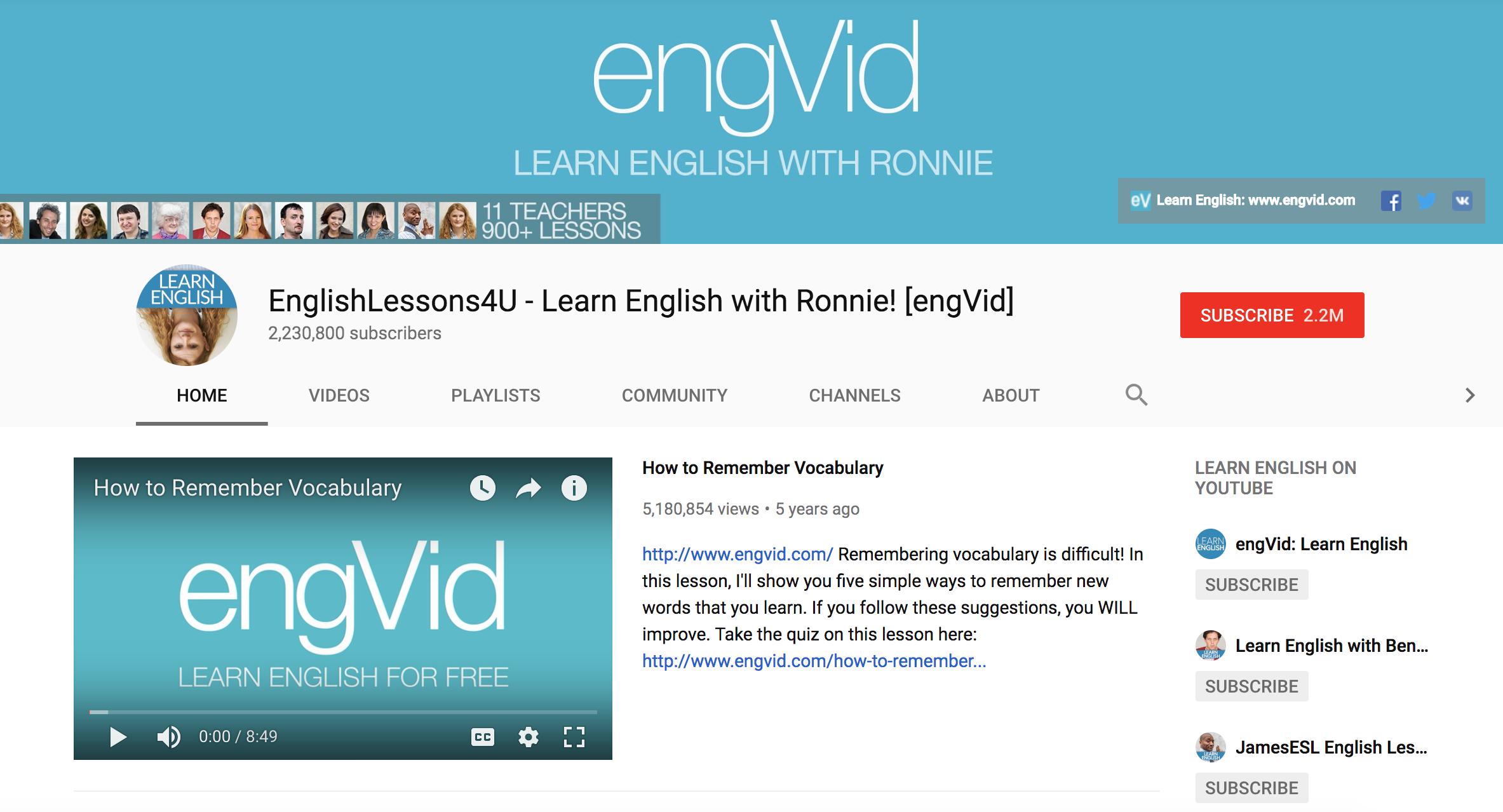 10个最适合学英语的YouTube Channels!让你轻松学英语! - Leesharing